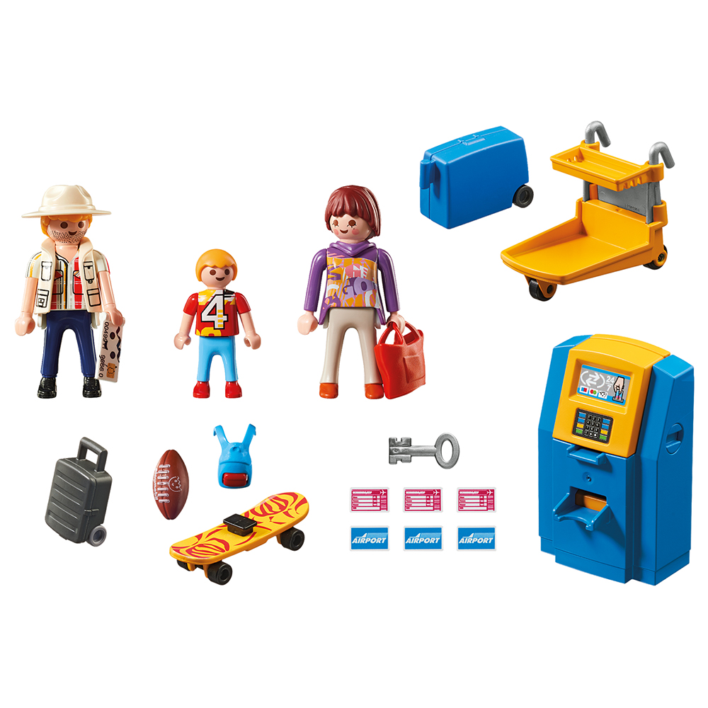 Playmobil 5399 - Family at the check-in machine - Back