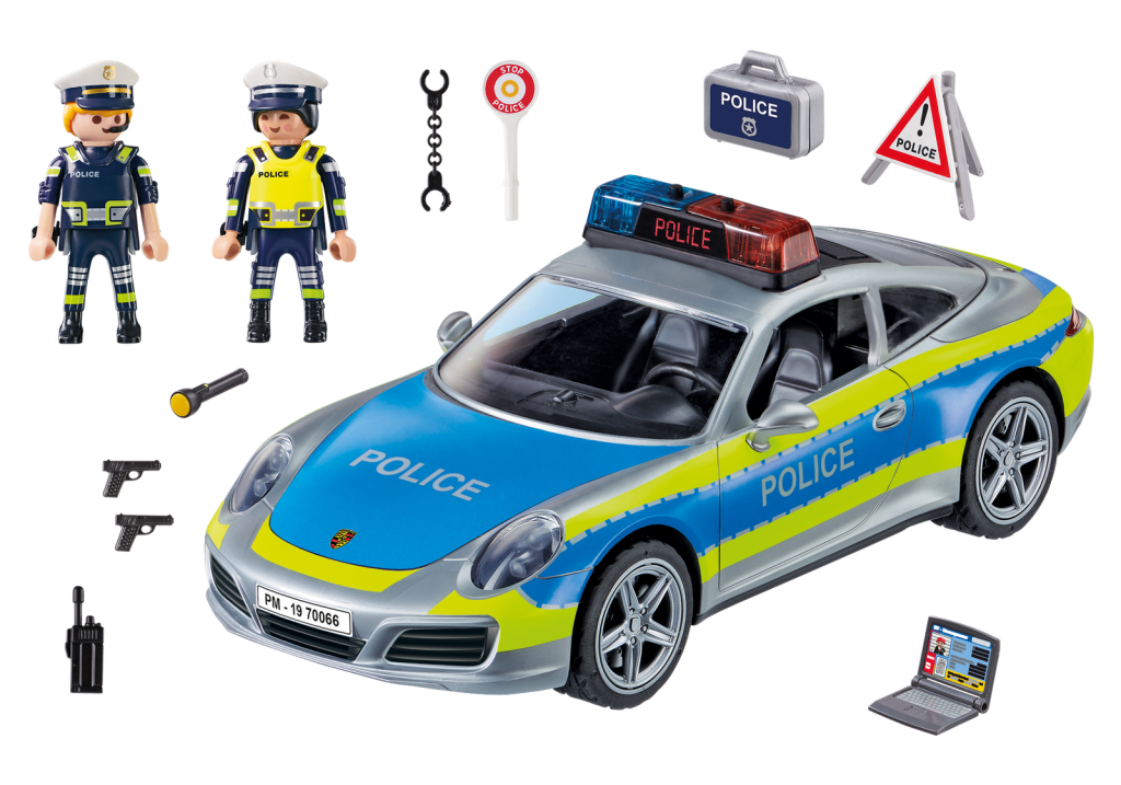 Playmobil 70066 - Porsche 911 Carrera 4S Police - Back