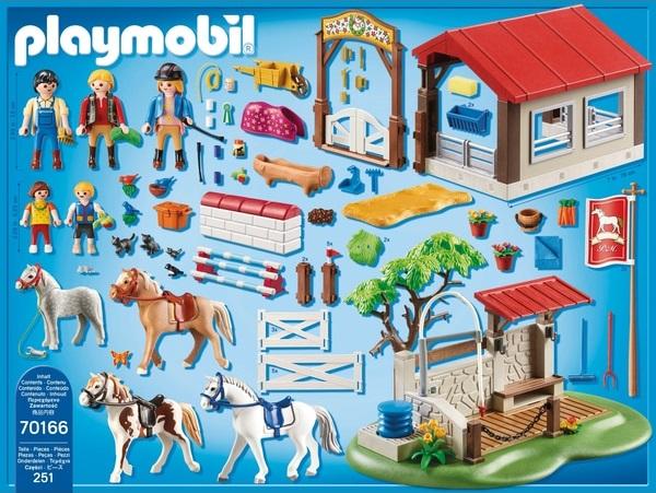 Playmobil 70166-ger - Großer Reitparcours - Back