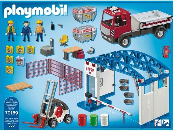 Playmobil 70169-ger - Cargohalle - Back