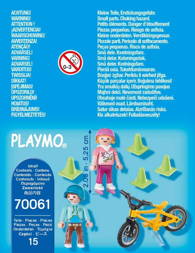 Playmobil 70061 - Kids with skates and BMX - Back