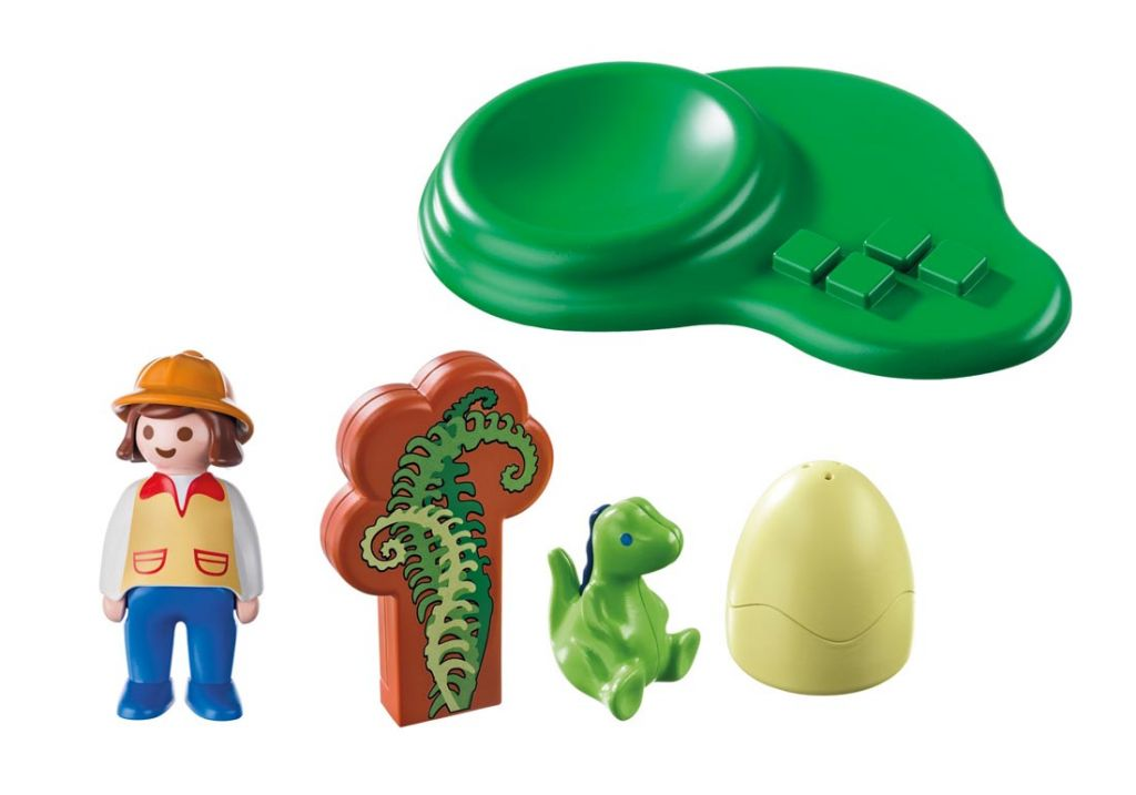 Playmobil 9121 - Girl with Dino Egg - Back