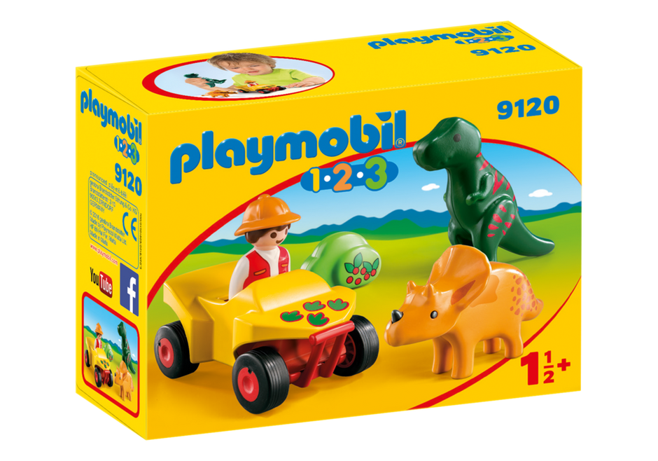 Playmobil 9120 - Dinoforscher mit Quad - Box