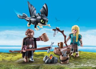 Playmobil - 70040 - Hiccup and Astrid with Baby Dragon
