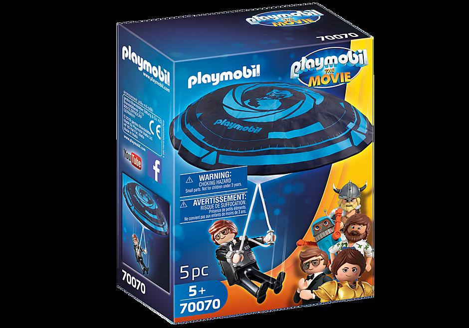 Playmobil 70070 - PLAYMOBIL:THE MOVIE Rex Dasher with Parachute - Box