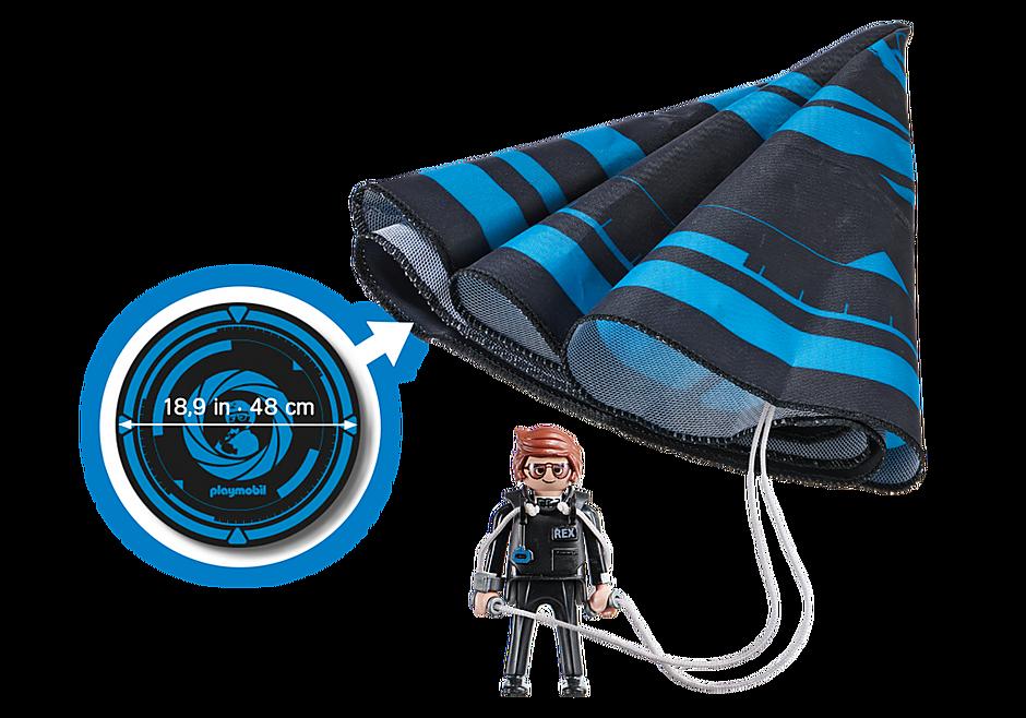 Playmobil 70070 - PLAYMOBIL:THE MOVIE Rex Dasher with Parachute - Back