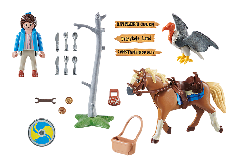 Playmobil 70072 - Marla with Horse - Back