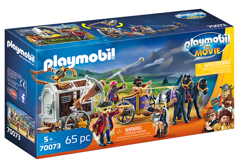 Playmobil 70073 - PLAYMOBIL:THE MOVIE Charlie with Prison Wagon - Box