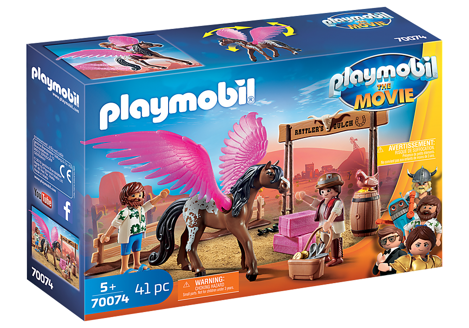 Playmobil 70074 - PLAYMOBIL:THE MOVIE Marla and Del with Flying Horse - Box