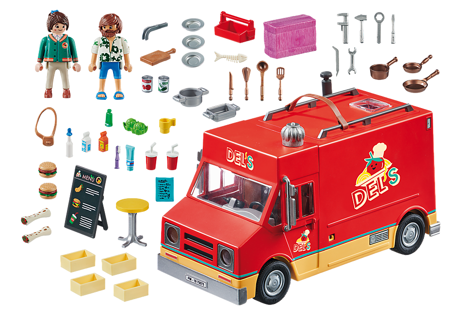 Playmobil 70075 - Del's Food Truck - Back