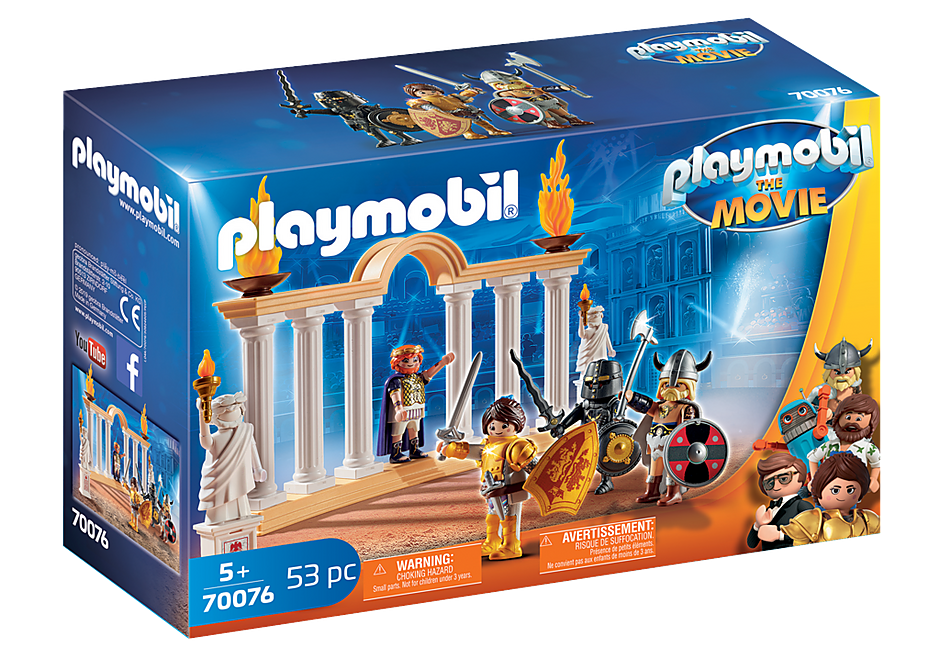 Playmobil 70076 - PLAYMOBIL:THE MOVIE Emperor Maximus in the Colosseum - Boîte