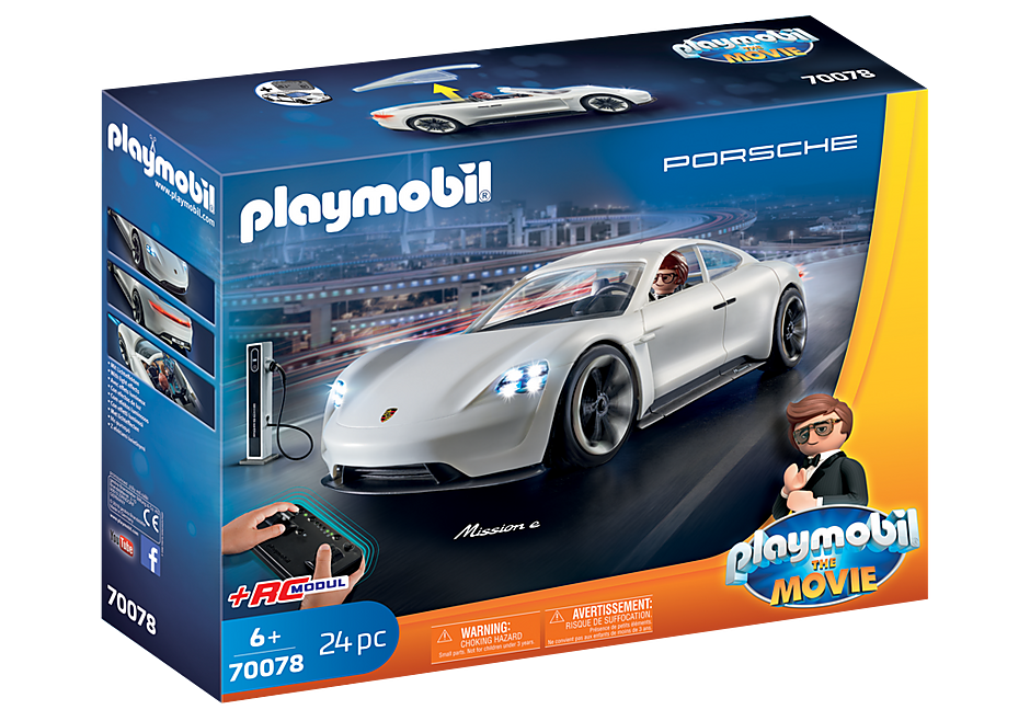 Playmobil 70078 - PLAYMOBIL:THE MOVIE Rex Dasher's Porsche Mission E - Box