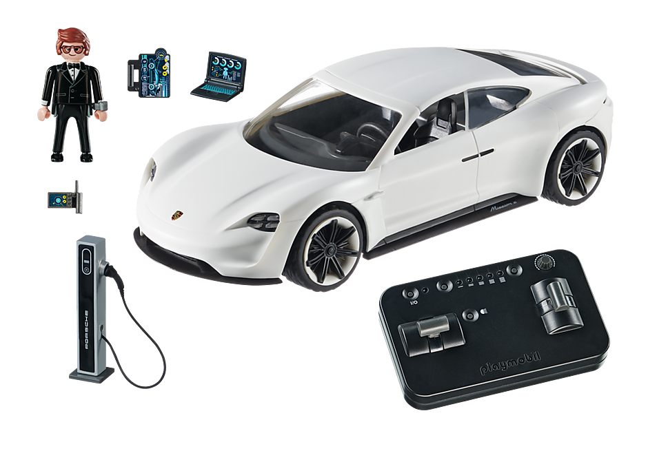 Playmobil 70078 - PLAYMOBIL:THE MOVIE Rex Dasher's Porsche Mission E - Back