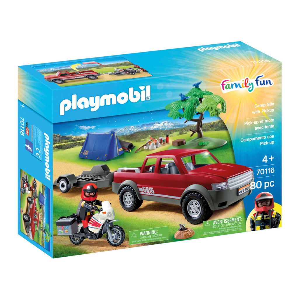 Playmobil 70116 - Camp Site with Pickup - Box