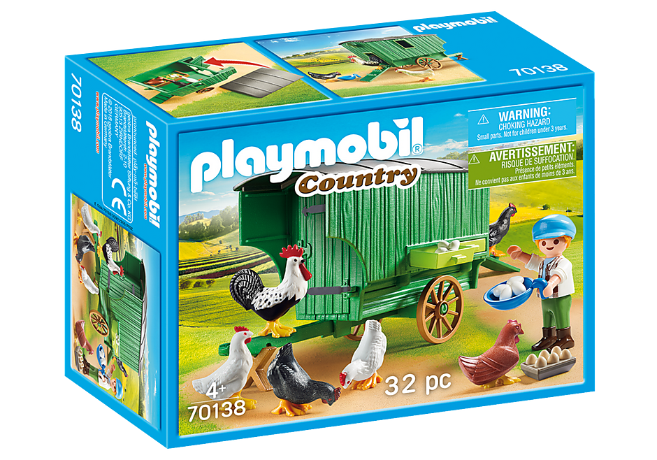 Playmobil 70138 - Mobile Chicken House - Box