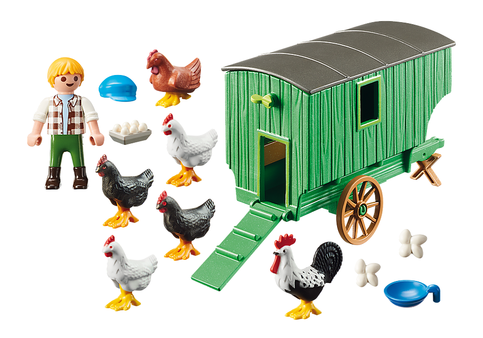 Playmobil 70138 - Mobile Chicken House - Back