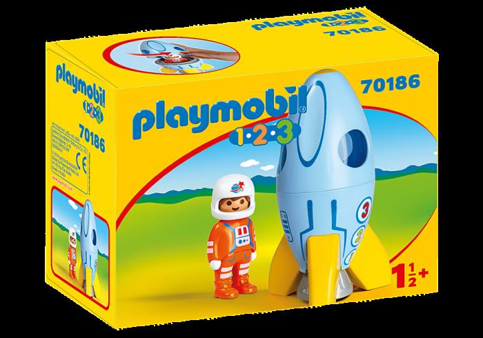 playmobil set 70186  astronaut mit rakete  klickypedia
