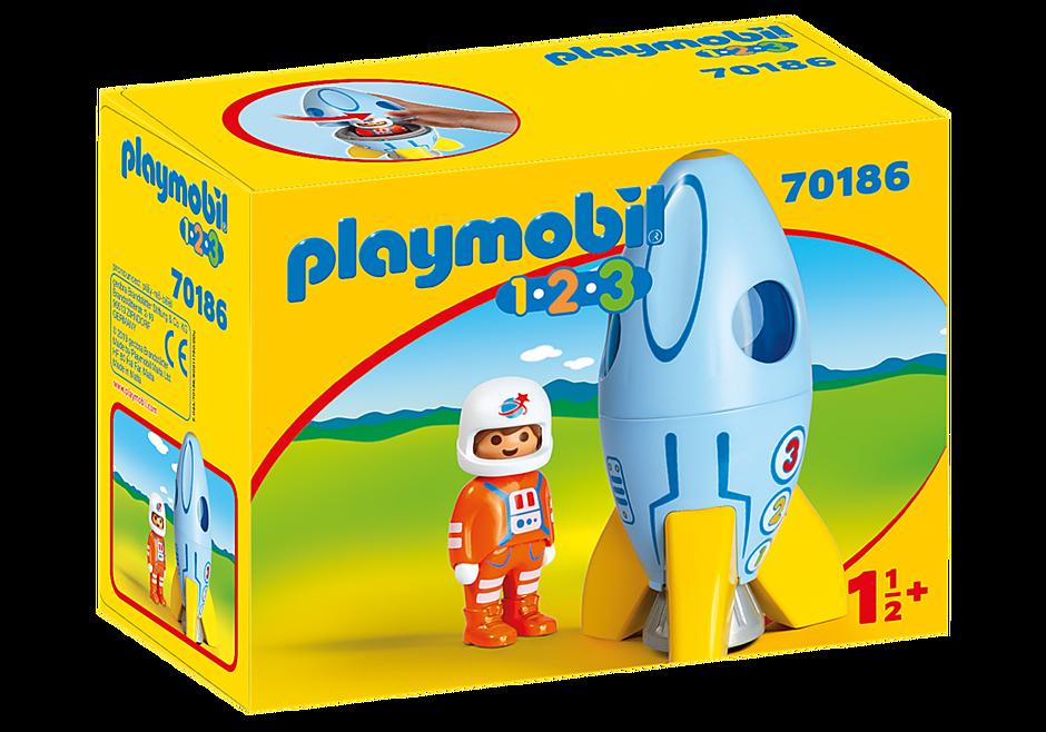 Playmobil 70186 - Astronaut mit Rakete - Box