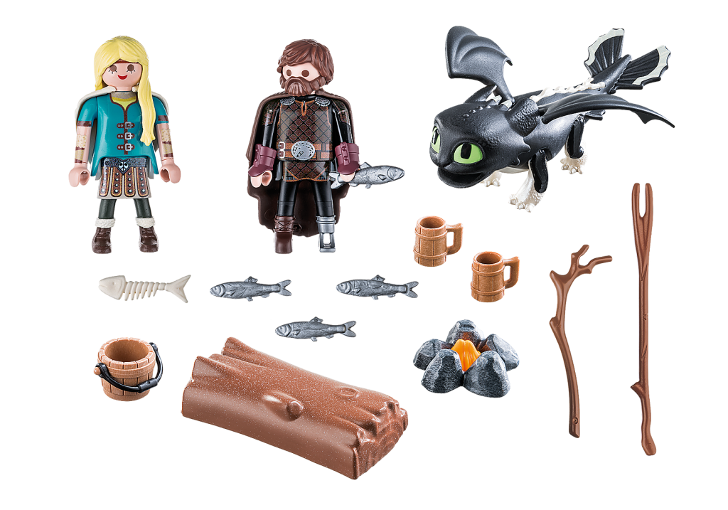 Playmobil 70040 - Hiccup and Astrid with Baby Dragon - Back