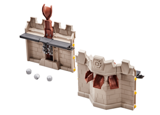 Playmobil - 9839 - Wall Extension with Catapult