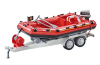 Playmobil - 9845 - Firefighters Dinghy with Trailer
