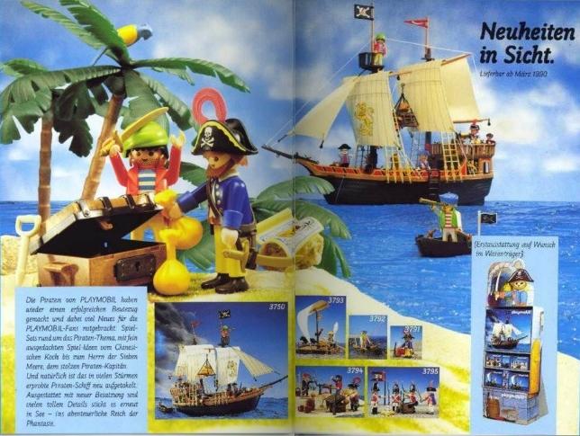 Playmobil D0256/01.90-ger - Neuheiten Katalog 1990 - Box