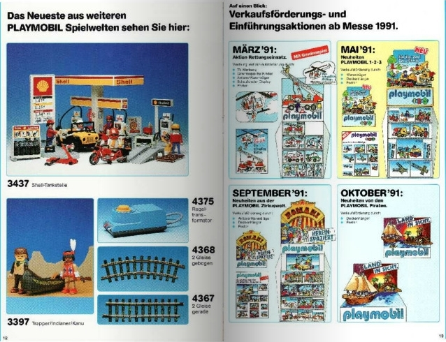 Playmobil D0255/01.90-ger - Neuheiten Katalog 1991 - Back