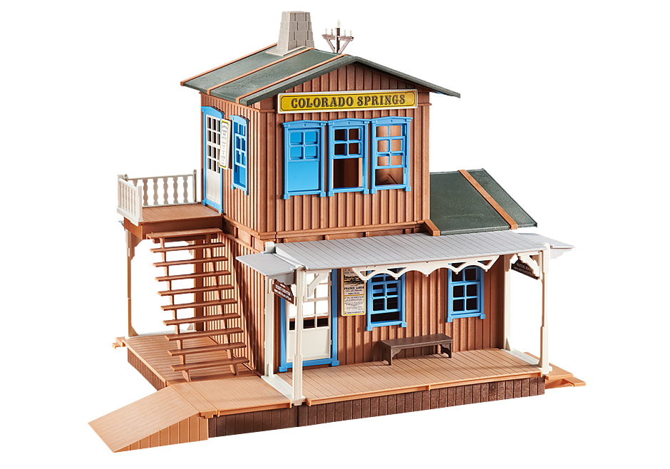 Playmobil 6462 - Western Station - Back