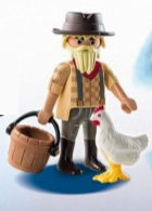 Playmobil - 70069v9 - Farmer with hen