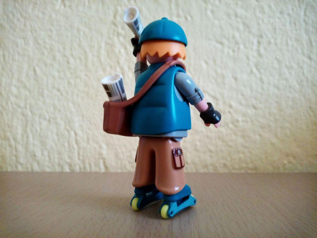 Playmobil 9332v1 - Paperboy - Back