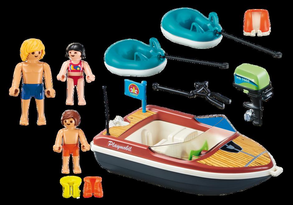 Playmobil 70091 - Sportboot mit Fun-Reifen - Back