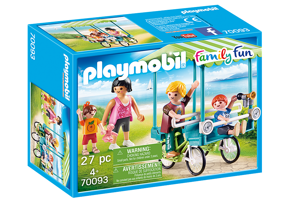 Playmobil 70093 - Family Bicycle - Box