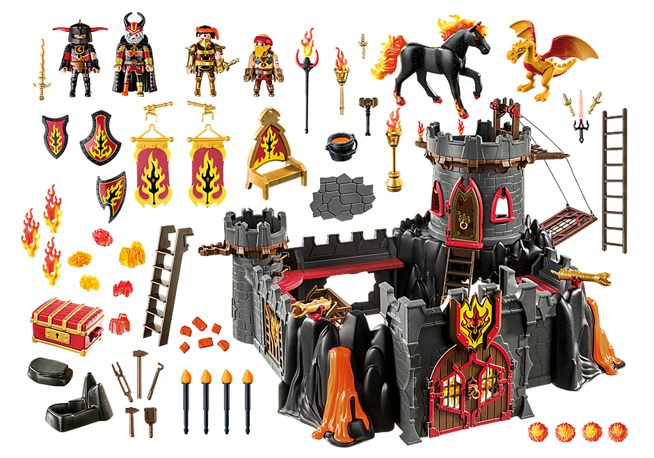 Playmobil 70221 - Burnham Raiders Fortress - Back