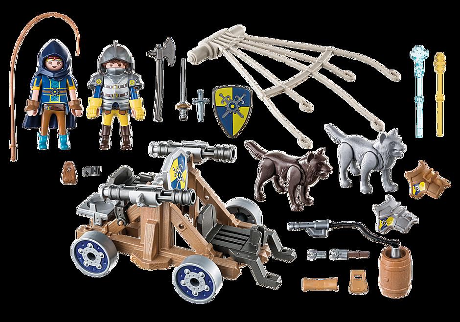 Playmobil 70225 - Novelmore Wolfsgespann und Wasserkanone - Back