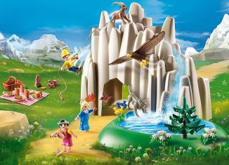 Playmobil - 70254 - Heidi's Alpine Waterfall