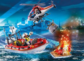 Playmobil - 70335 - Fire rescue helicopter and boat