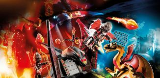 Playmobil - 70226 - Burnham Raiders Kampftraining des Drachen