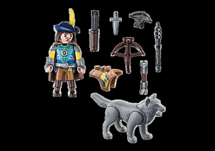 Playmobil 70229 - Novelmore Armbrustschütze mit Wolf - Back