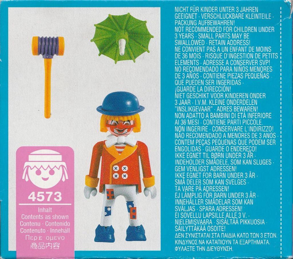 Playmobil 4573 - Clown Beppo - Back