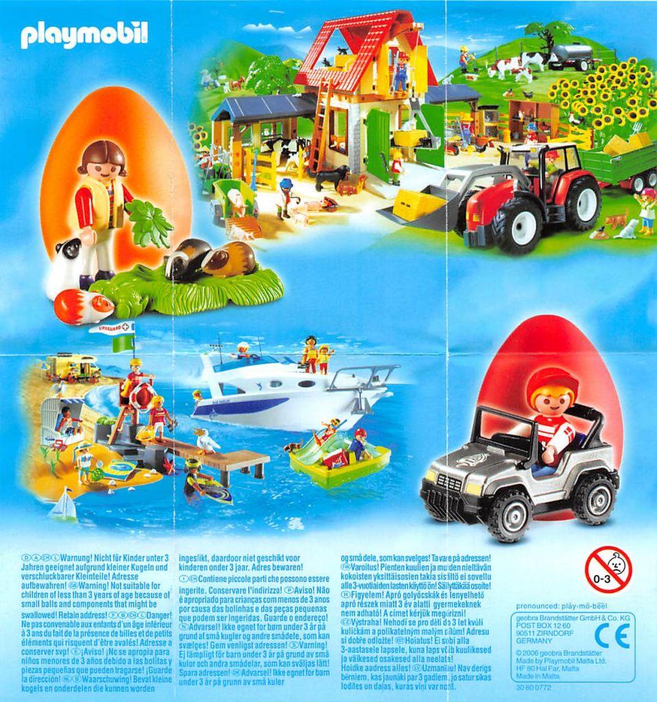 Playmobil 4918v4 - Orange Egg Girl with Guinea Pigs - Back