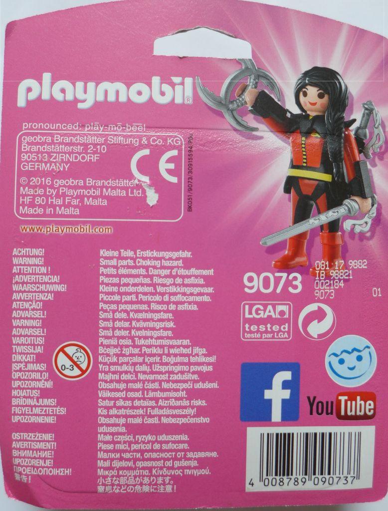 Playmobil 9073 - Schwertkämpferin - Zurück