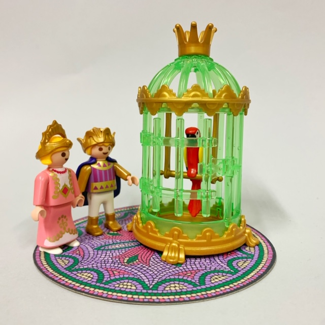 Playmobil 3032 - Royal Children with Parrot Cage - Back