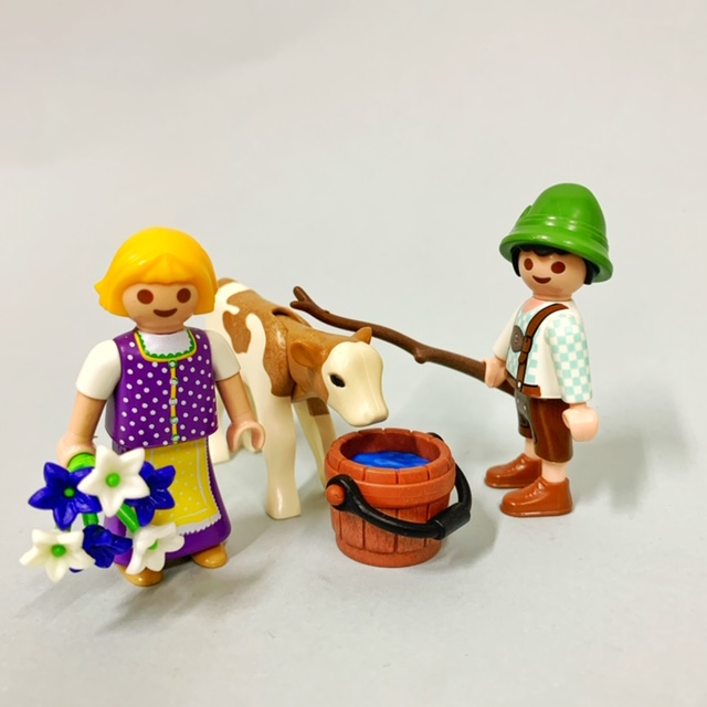 Playmobil 70155 - Children With Calf - Back