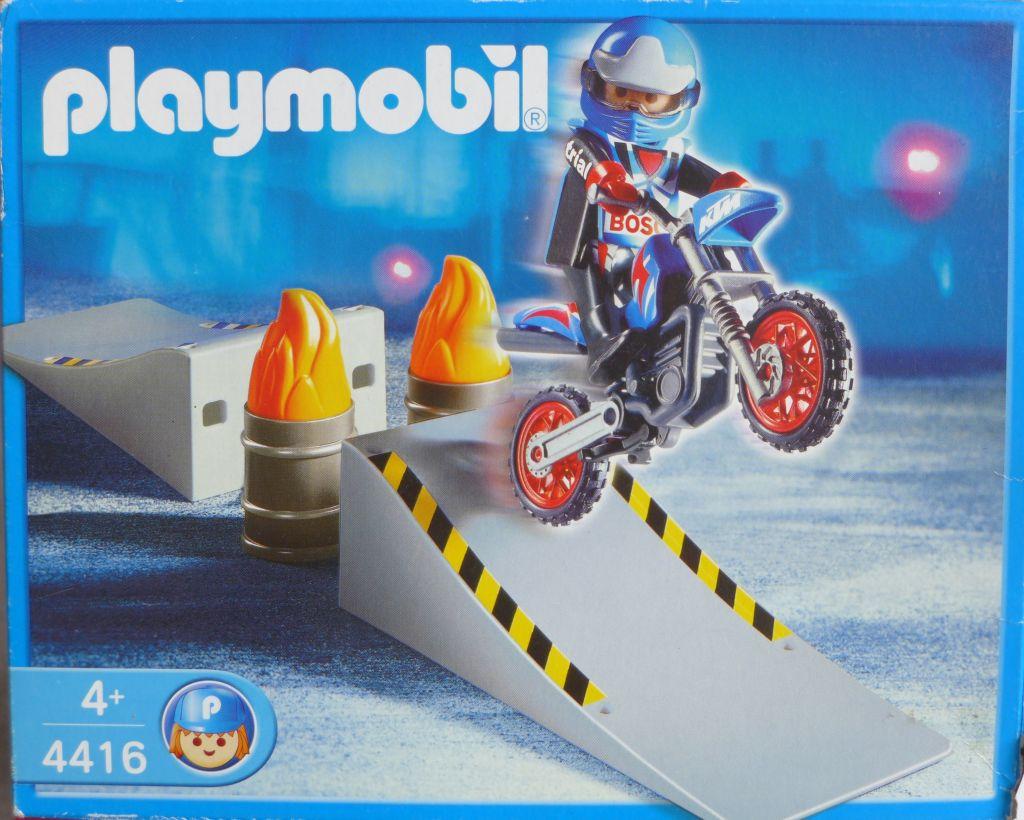 Playmobil 4416 - Motocross Rider with Ramp - Box