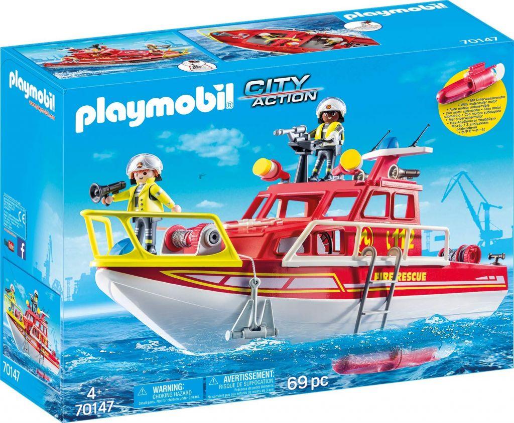 Playmobil 70147 - Fire Rescue Boat - Box