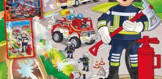 Playmobil - PLAYMOBIL PANNINI 02 AZUL - fireman