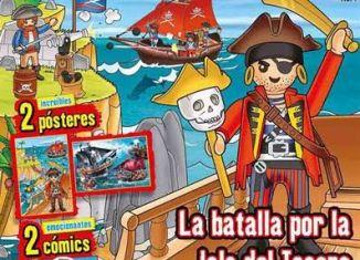 Playmobil - PANNINI 01 AZUL -  pirate captain