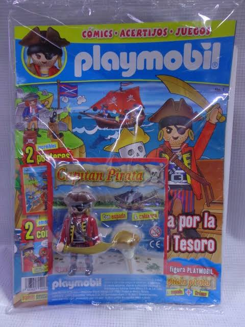 Playmobil PANNINI 01 AZUL -  pirate captain - Boîte