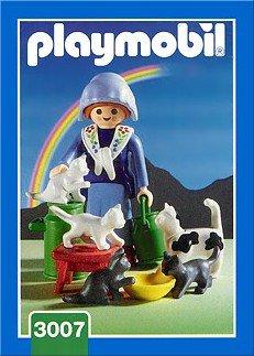 Playmobil 3007 - Milkmaid / Cats - Box