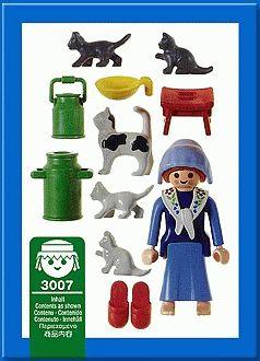 Playmobil 3007 - Milkmaid / Cats - Back